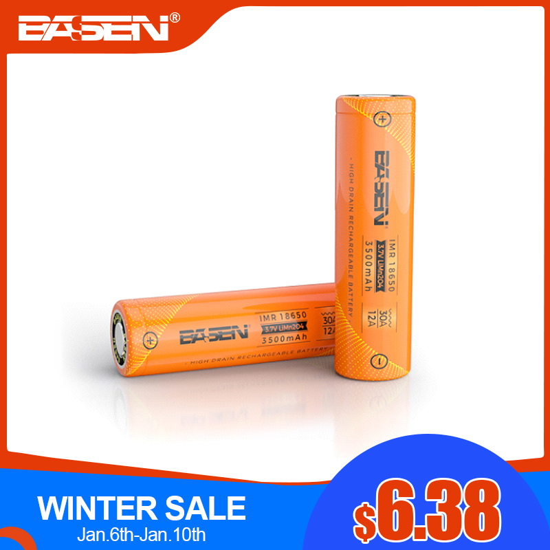 BASEN 2019 18650 3000mAh High Power Discharge 30A Large Current Rechargeable Battery High Discharge Batteries For Flashlight