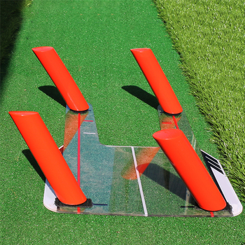 4 Path Rods Guide Beginner Equipment Durable Transparent Base Indoor Alignment Golf Swing Training Aid Chip Pitch Flexible Angle