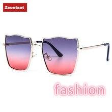 Zeontaat 2020 New Gradient Sunglasses Water Ripple Metal Fra
