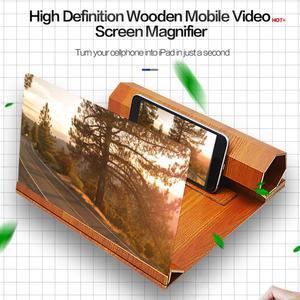 Image 3 - ALLOYSEED 12 pollici Log cellulare 3D HD amplificatore dello schermo lente dingrandimento stereoscopica pieghevole ingranditore staffa del telefono