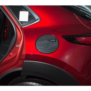 Image 5 - For 2020 Mazda CX 30 CX30 ABS Carbon Fiber Gasoline Tank Cap Fuel Tank Cover Protective Sticker Sticker Car Styling Accessories