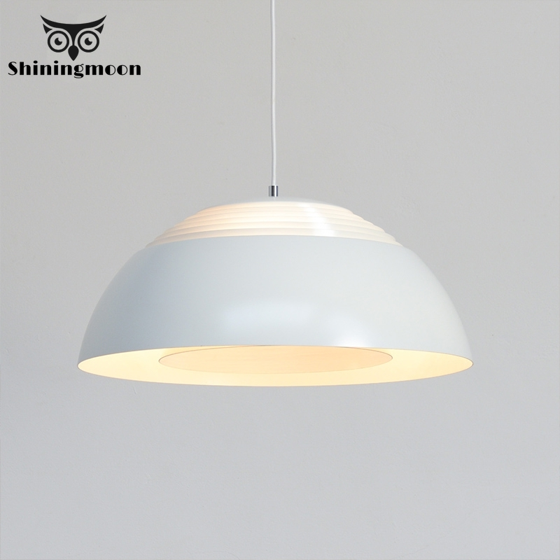Modern Chinese Led Pendant Lights Nordic Minimalist Iron Art Pendant Lamp Creative White Living Room Kitchen Hanglamp Fixture
