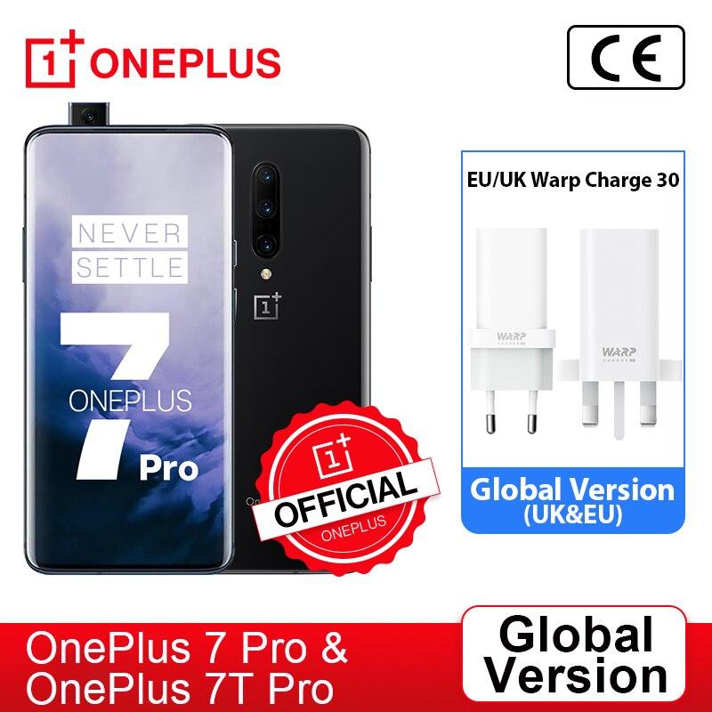 Глобальная версия OnePlus 7 Pro Snapdragon 855 OnePlus 7T Pro Snapdragon 855 плюс, смартфон, четыре ядра, 6,67 ''amoled 48MP тройной, ; код: