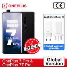 Versão global oneplus 7 pro snapdragon 855 oneplus 7t pro snapdragon 855 plus smartphone octa core 6.67 oled amamoled 48mp triplo, code: