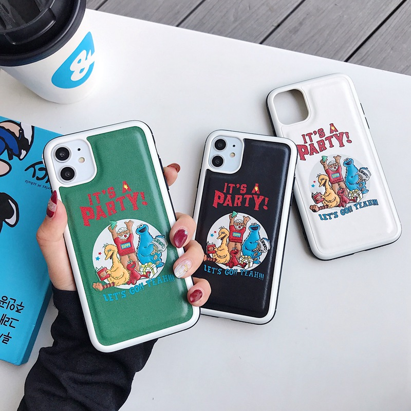 Cartoon Sesame Street Phone Case For iphone X XS Max XR phone cases 11 PRO Max 8 7 6 S Plus Cute cartoon mobile phone cover