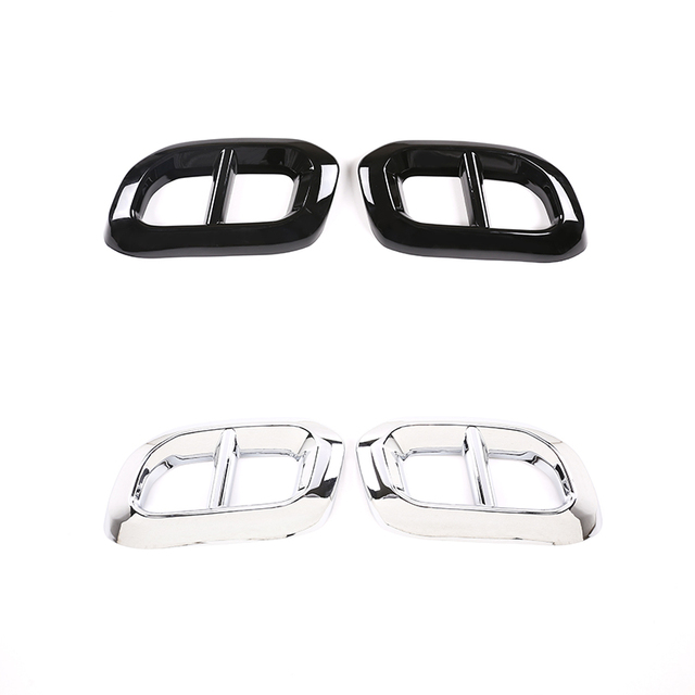 2pcs Car Muffler Exhaust Pipe Tail Cover Trim Exterior Accessories For Mercedes Benz GLE 350 GLE 450 GLC GLS W167 X253 X167 2020 5