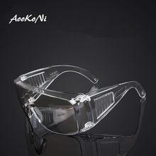 Aookoni óculos à prova de poeira anti-respingo vento-areia impacto transparente proteção do trabalho glassess anti-nevoeiro óculos anti gotículas formiga