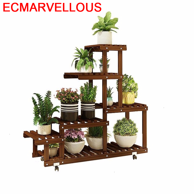 Flores Saksi Standi Estanteria Para Plantas Ladder Living Room Outdoor Dekoration Stojak Na Kwiaty Flower Shelf Plant Stand