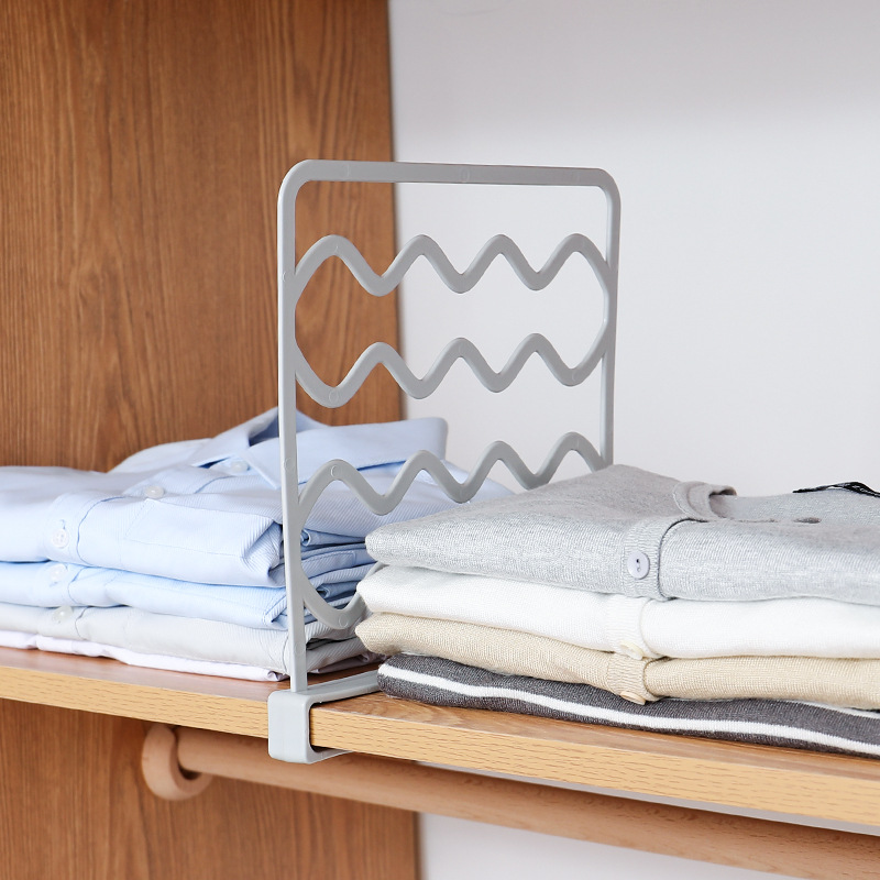 Wardrobe Layered Partition Seperator Cabinet Points Shelf Dormitory Storage Compartmental Shelf Clothes Compartment Organizing B