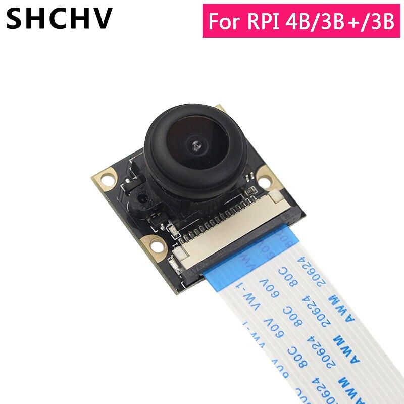 Raspberry Pi 4 Night Vision Camera Raspberry Pi 3 5MP Fisheye 130 Degree Focus Camera For Raspberry Pi 4 3 Model B 3B Plus 3B+