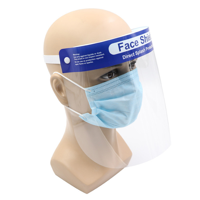 10PCS Anti-Saliva Dustproof Mask Transparent Safety Protective Face Shield Mask Spare Visors Head Face Virus Protection Masques 2