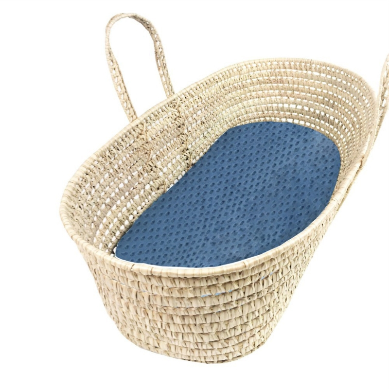 Bassinet Sheets Minky Dot Fitted Sheet Super Soft Breathable Flexible for Cradle Moses Basket