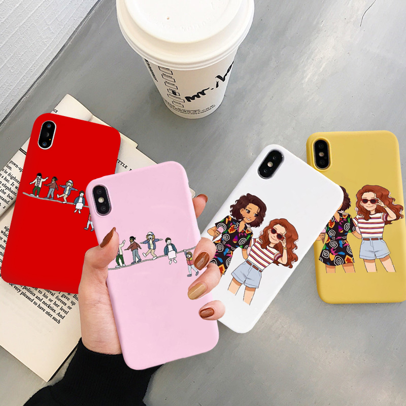 JAMULAR <font><b>Stranger</b></font> <font><b>Things</b></font> <font><b>Phone</b></font> <font><b>Case</b></font> For <font><b>iphone</b></font> 7 X XS MAX <font><b>XR</b></font> 11 Pro 6 6s 8 Plus Scoops Ahoy The Acrobats Soft Back Cover Capa Bag image