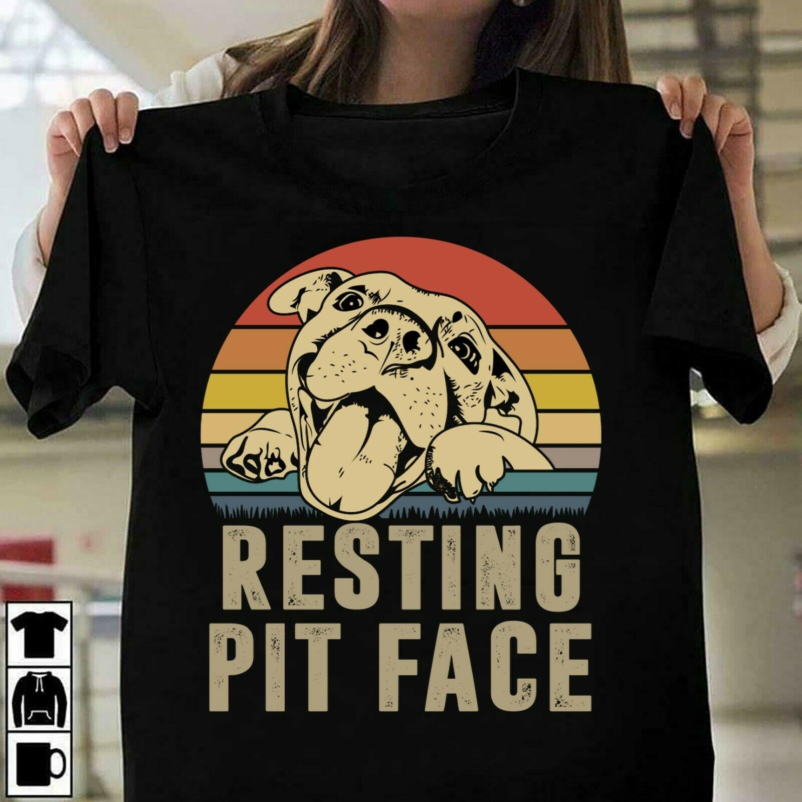 Футболка для влюбленных питбуля, собаки, отдыха, питбуля, лицо ямы, смешная собака, черная S 3Xl, хлопковая рубашка