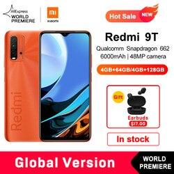 World Premiere Global Version Xiaomi Redmi 9T 4GB 64GB /4GB 128GB Smartphone Snapdragon 662 48MP Rear Camera 6000mAh Non NFC