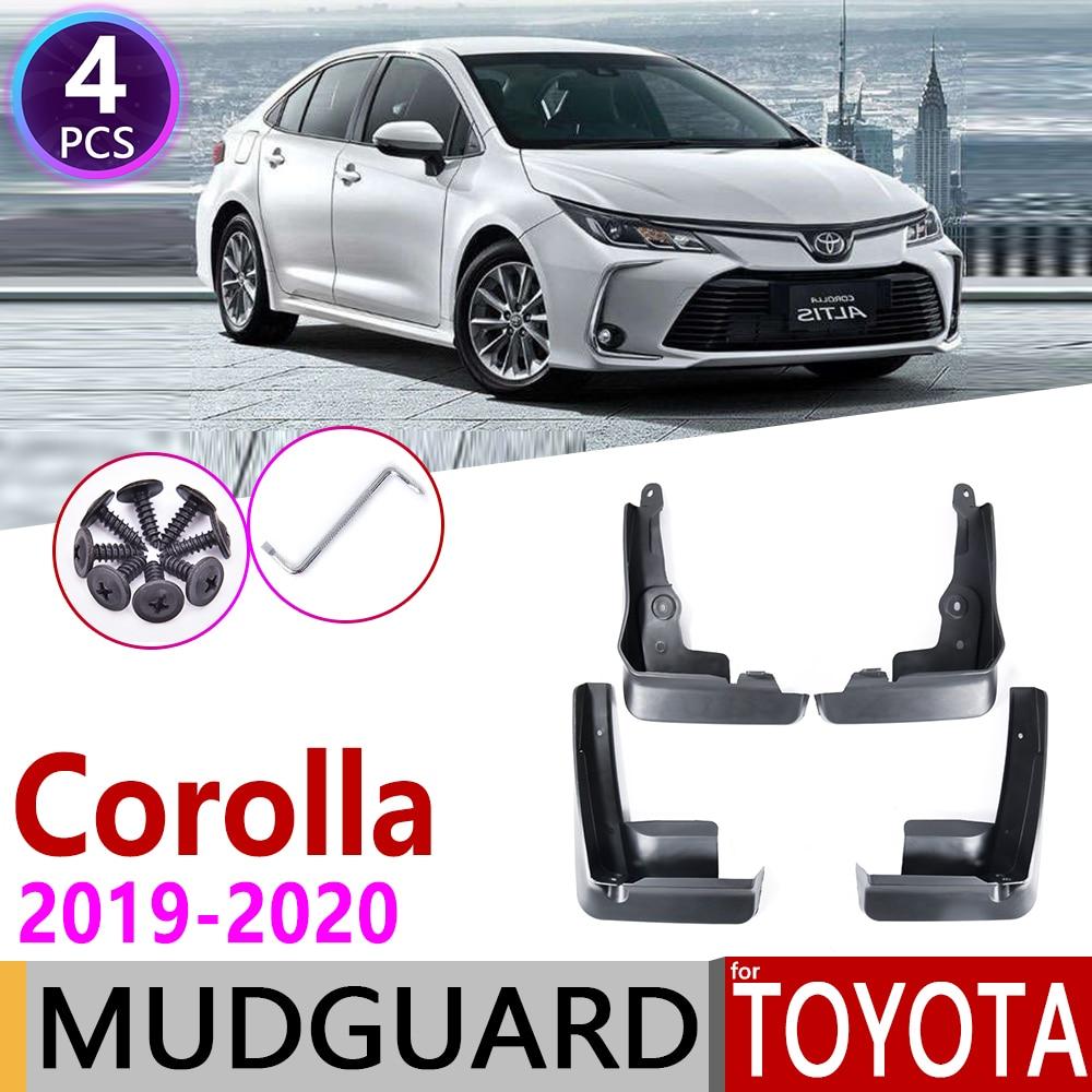 Для Защитные чехлы для сидений, сшитые специально для Toyota Corolla Altis E210 седан 2019 ~ 2020 спереди и сзади брызговик крыло брызговики брызговик ЛОСКУ...