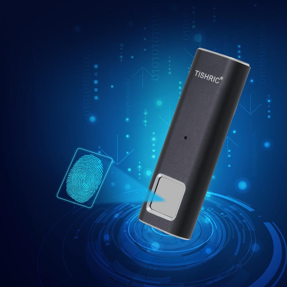 TISHRIC Fingerprint Encrypted USB Flash Stick Flash Memory Usb Drive 3.0 Pen Drive 128Gb 64Gb 32Gb 16GB Usb Flash Drive Memory