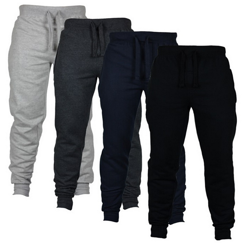 Oeak Men Casual Sweatpant Fashion Joggers Drawstring Trousers Solid Color Men's Hip Hop Joggers Fitness Pants Gym Sportwear