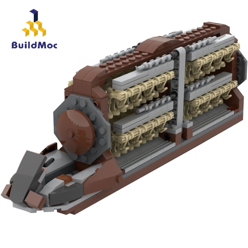 Buildmoc Star Movie Droid Platoon Attack Craft Building Blocks Space Battle Droids Transport Battleship Bricks Kid Toys Gift
