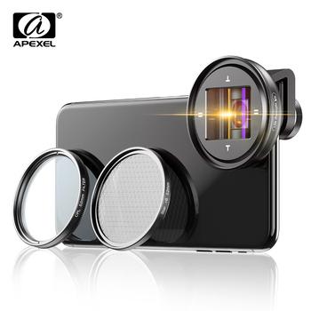 APEXEL 1 33x obiektyw anamorficzny profesjonalny obiektyw panoramiczny obiektyw wideo Vlog obiektyw cpl do Samsung Huawei smartfony tanie i dobre opinie CN (pochodzenie) Obiektyw szerokokątny Stałej ogniskowej obiektywu 52mm Kamery 300g APL-PRAN-V2 Black