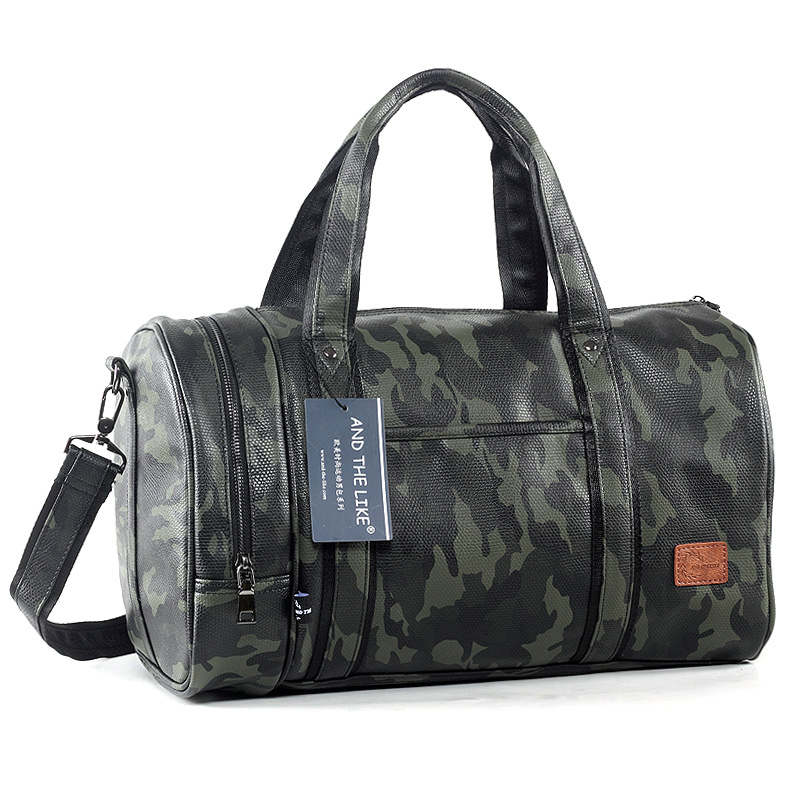 Casual Men's Camouflage Travel Bag Large Capacity Portable Crossbody Bag Leisure Travel Business Shoulder Bag Practical Luggage