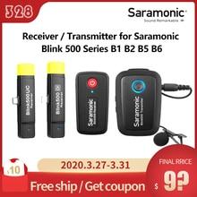 Saramonic Blink 500 seria B1 B2 B5 B6 odbiornik/nadajnik dwukanałowy bezprzewodowy System mikrofonowy bezprzewodowy go