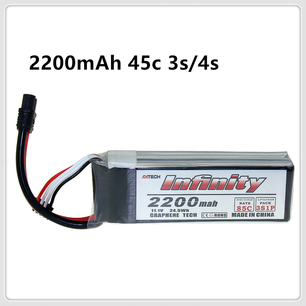 Infinity <font><b>2200mAh</b></font> <font><b>3S</b></font> 4S 45C 85C 11.1V <font><b>LiPo</b></font> Rechargeable Battery SY60 XT60 Plugs for RC FPV Multicopter Model Drone image