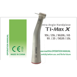 DENTAL COKALAA TI MAX X95L Dental 1:5 Zunehmende Contra Winkel Handstück Rot Ring Push handstück