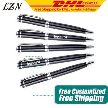 LZN 500pcs Ballpoint pen black luxury pen signature pen office pen business pen Free Engrave Promotion Logo/Text