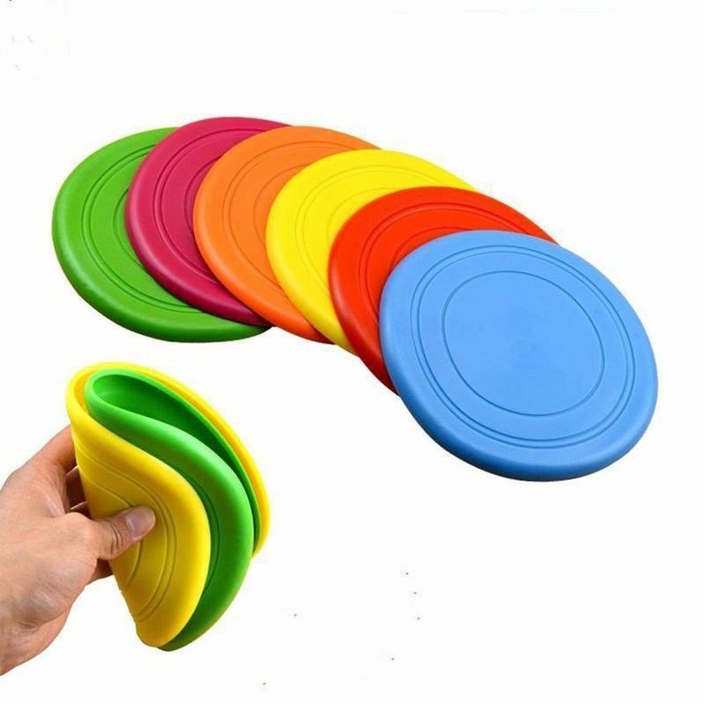 Soft Silicone Dog Flying Discs Outdoor Puppy Training Frisby Fetch Toy for Pet Supplies
