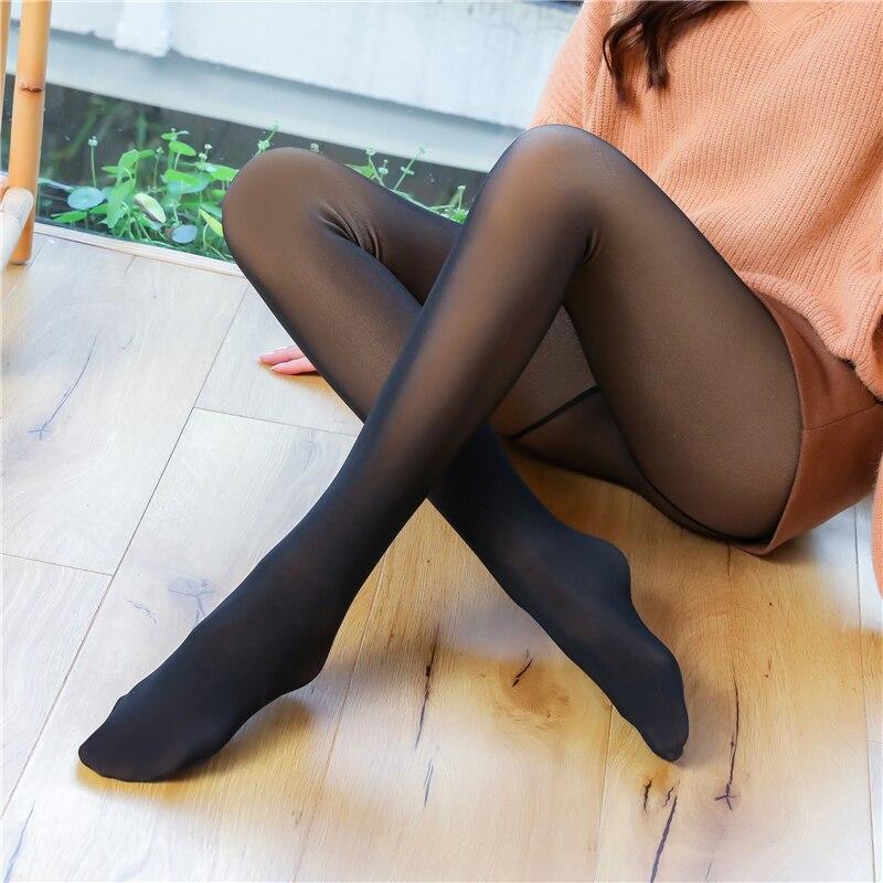 ATHVOTAR seksi tayt kadın siyah yüksek bel Leggins Mesh parlak sıcak pantolon sonbahar kış kadın