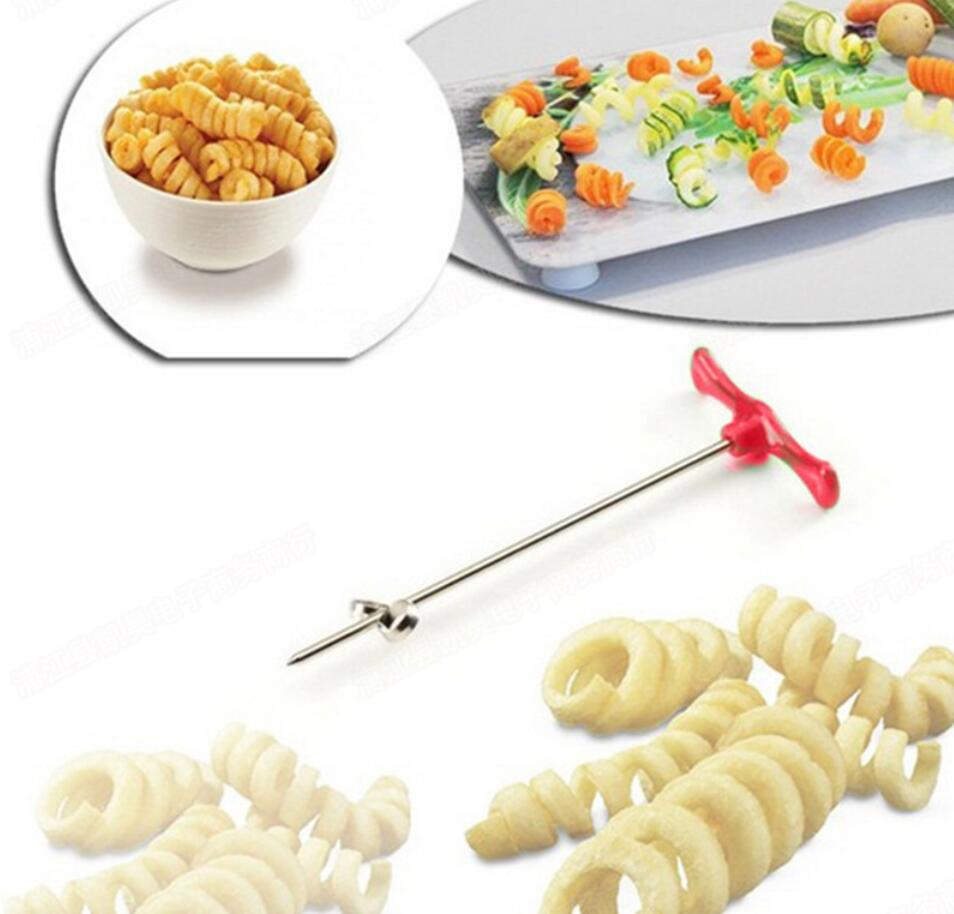 1pcs Spiral Cutter Cucumber Accessories Vegetable Spiralizer Potato Slicer Kitchen Gadgets Tools
