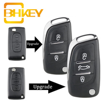 تعديل مفتاح سيارة قابل للطي شل الحال بالنسبة لسيتروين C2 C4 C5 بيرلينجو كسارا بيكاسو لبيجو 306 407 807 شريك VA2/HU83 2/3BUT