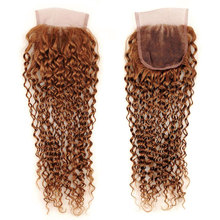 Color 30 Kinky Curly Bundles With Closure Human Hair Bundles With Closure Non Remy Brazilian Hair Weave Bundles
