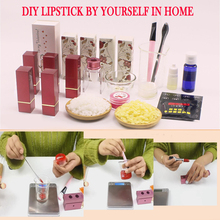 DIY lipstick kit 42 colors lipstick pigment powder Silicone Lipstick Mold Handmade lipstick set kit lips makeup aluminum lipstick mold diy 2 cavities hole aluminum alloy lipstick fill mold eagle mouth shape for 12 1mm tube