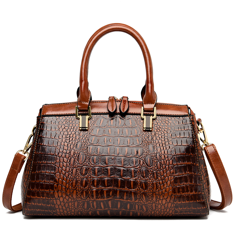 Lady Crocodile Pattern Shoulder Bags for Women 2020 Luxury Handbags Women Bags Designer Large Capacity Fashion Leather Tote Bags