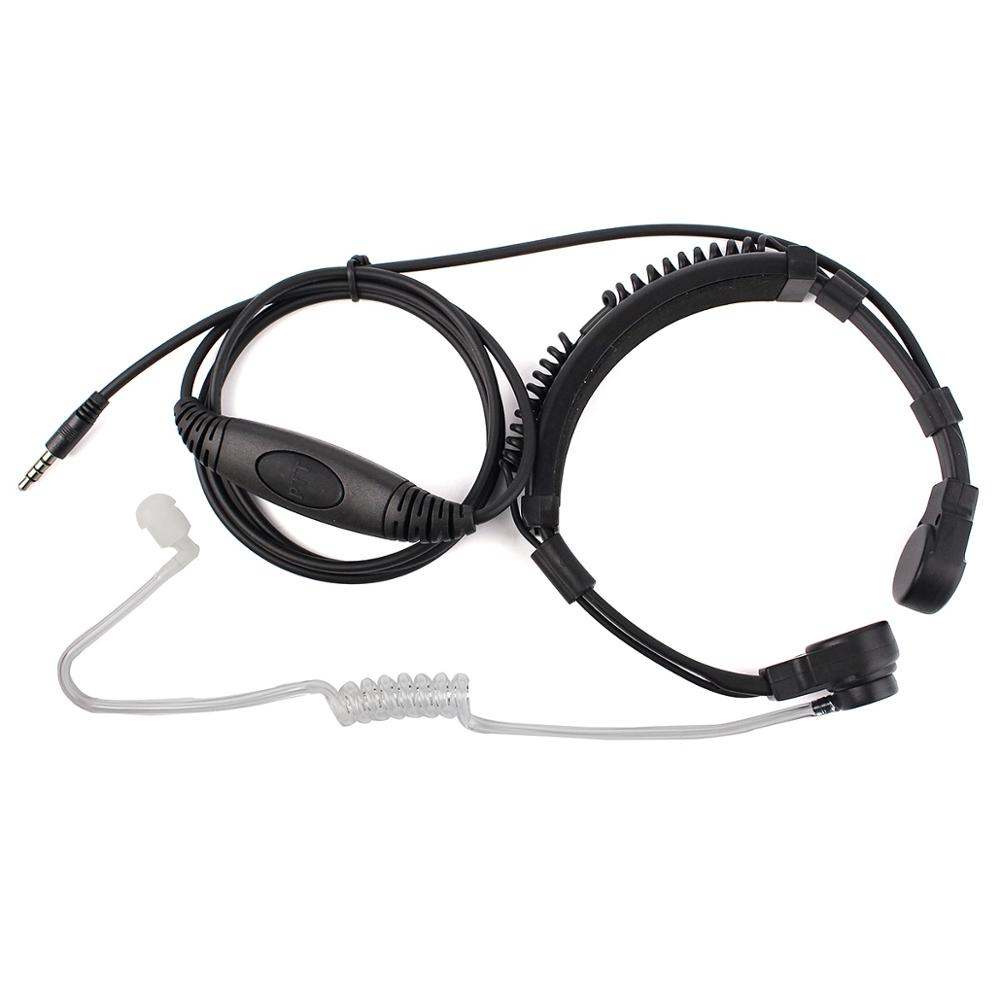 New Retevis R-151 1Pin 3.5mm PTT Throat Mic Earpiece Covert Air Tube Headset With Slow Rebound Earbud For Mobile Phone/Speakers
