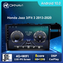 9 ''Radio Für Honda Jazz 3 2015-2020 Für Fit 3 2013-2020 Auto Multimedia Android 10,0 GPS Navigation BT SWC WIFI Kamera Keine DVD