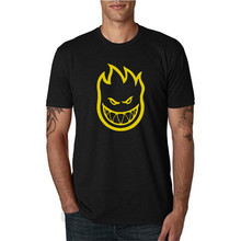 2019 Summer Dress New Men Anime Printed T Shirt Skateboard Zombie Flaming Head Logo Print Park Tracksuit for Clothing