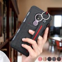 Pour Motorola G7 puissance G7 Plus Ultra mince Durable antichoc couverture arrière étui moto g7 puissance toile mince fentes pour cartes étui de téléphone capa