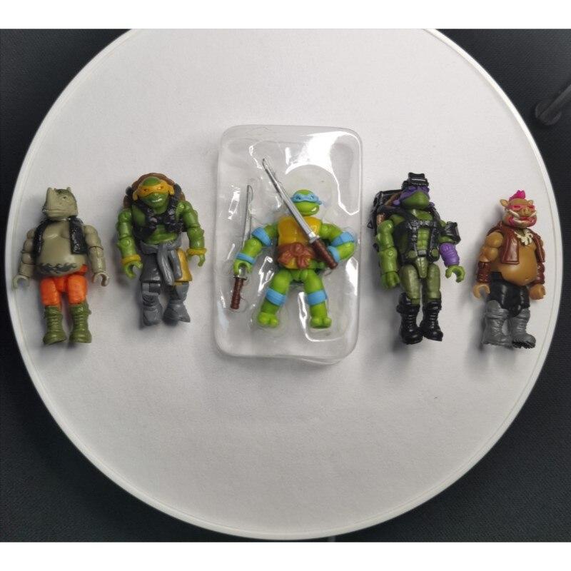Donatello Leonardo Michelangelo Bebop Rocksteady Mega 5 Figures