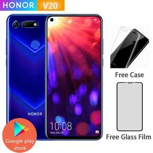 Honor V20 View 20 Smartphone Android 9.0 kirin 980 Octa Core FingerPrint ID 6.4 inch 3*Cameras 4000 mAh Cell Phone