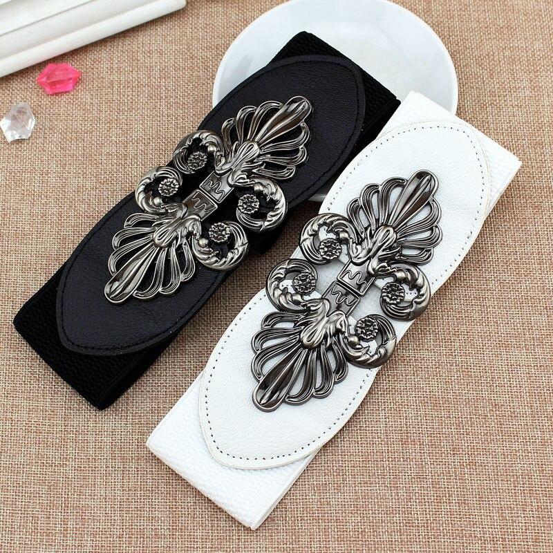 2020 New Fashion Korean Style Buckle Elastic Wide Belt Wide Cummerbund Strap Belt Waist Female Women Accessories 6