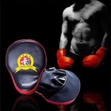 Wulong Панч митенки боксерские боевые тренировочные дуги фокус митенки поли уретан кожа толстые таэквондо Панч митенки для ног цель