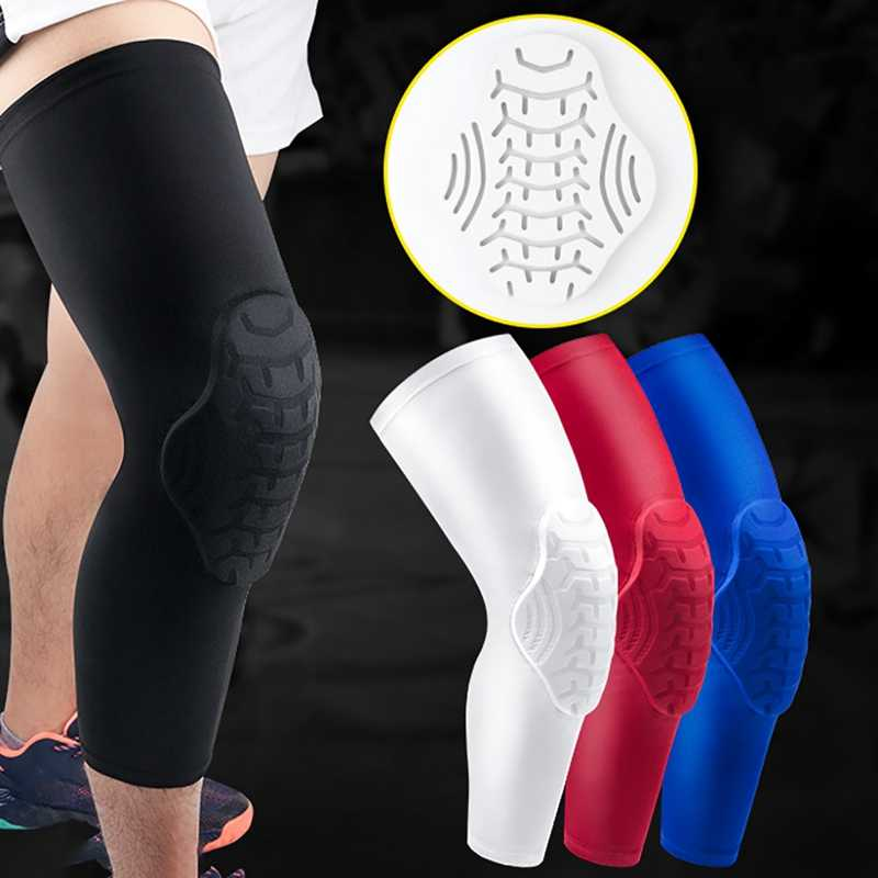 1 Pc Lange Knie Pad Sleeve Anti-Bump Ademend Thermische Been Ondersteuning Patella Protector Outdoor Gym Basketbal Sportkleding Accessoire