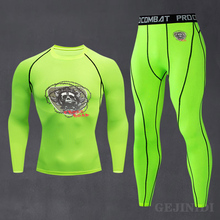 Spring Cycling Breathable Long-Sleeved Shirt Ski Underwear Set 2021 New Men's Compression Quick-Drying Running Training Suit