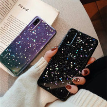 Bright Black Glitter Star Mobile Phone Case Huawei P20pro Protective Cover Soft Silicone Mate20
