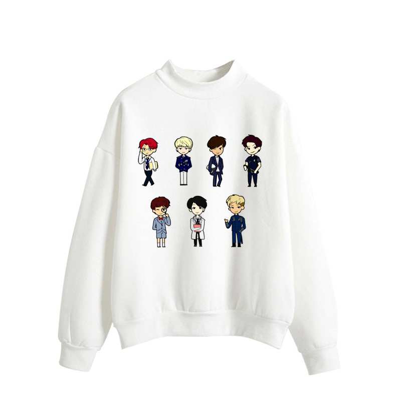 Women Hoodies Hoody Bts-Bangtan Kpop Hoodie Hoodies Female Autumn Winter Sweatshirt Long Sleeve Jumper Pullover Tops Blouse