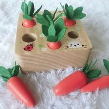 Montessori Conjunto de bloques de madera para niños, juguete para niños, Juguetes educativos de aprendizaje temprano, regalo de cumpleaños