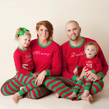 Family Matching Christmas Pajamas Mother Daughter Father Son Long Sleeve Children Pjs Look Little Brother Sister Clothes